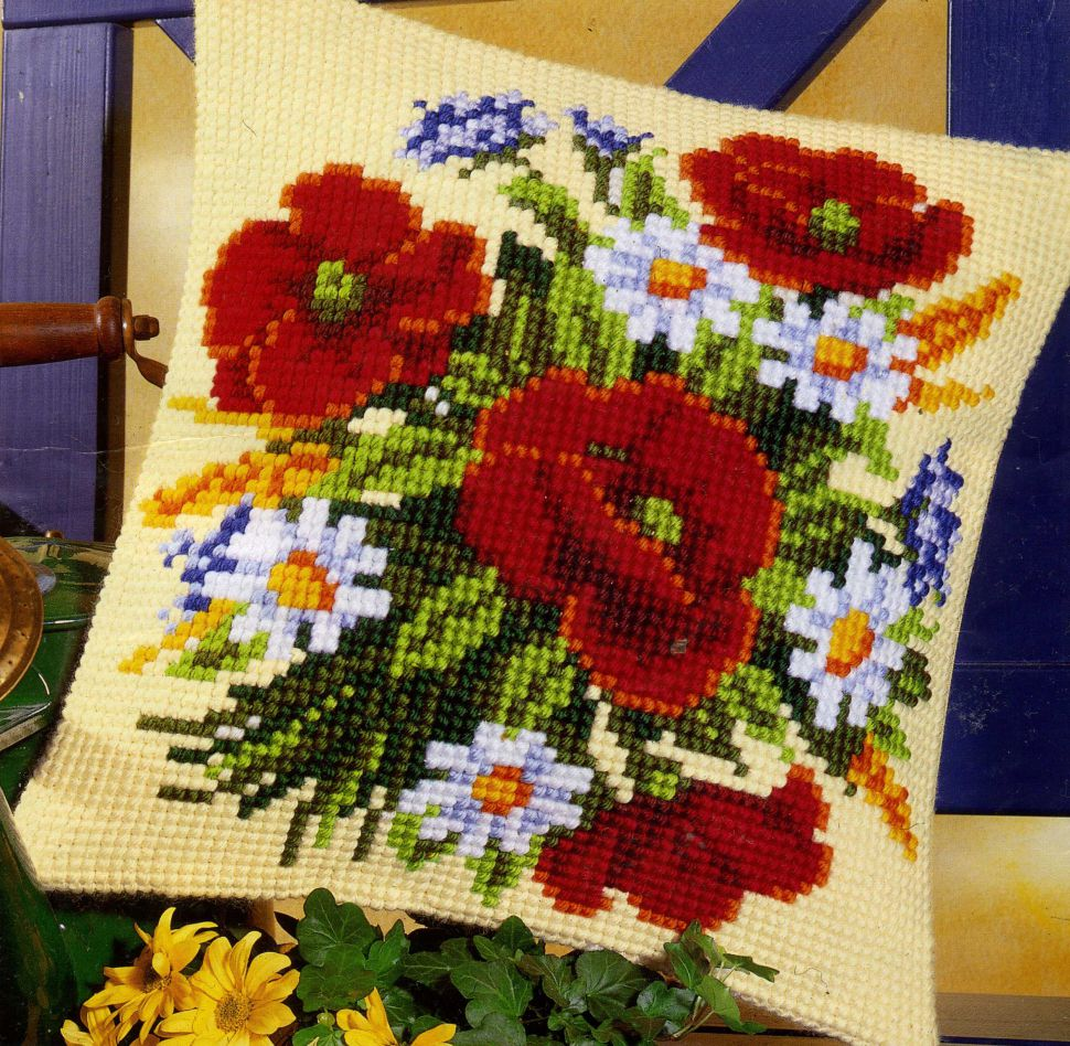 Мастер класс вышивки крестом модели с использованием комбинированных цветов 16